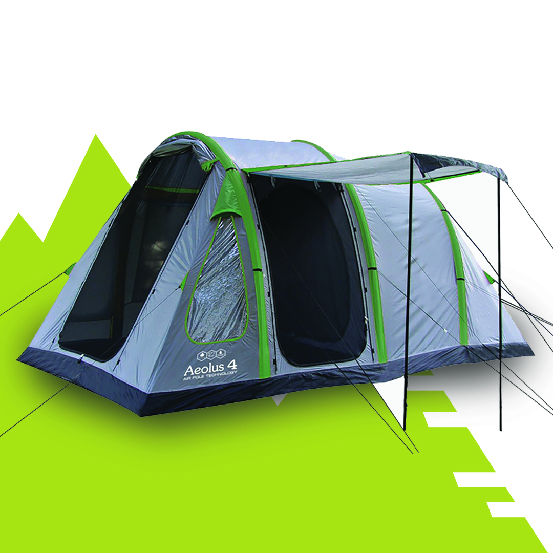 4 man inflatable tent with porch