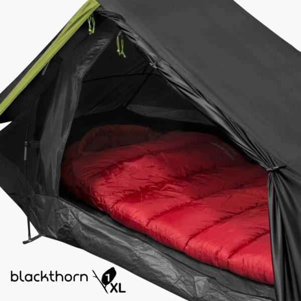 Inside highlander outdoor Blackthorn 1 person xl tent ten131xl-w-logo