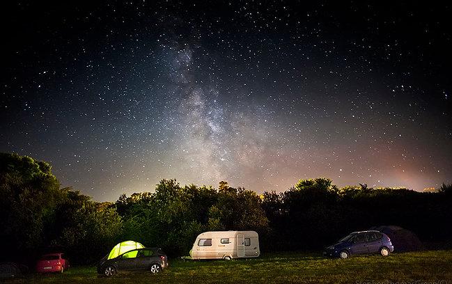 Namparra Campsite, Helston night view