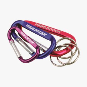 Highlander Karabiner Key rings, Assorted (3pcs) CS133-AS