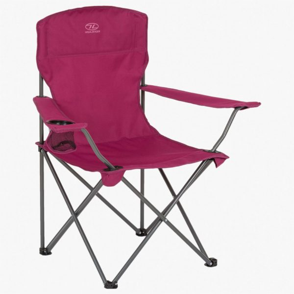 Highlander Outdoor Edinburgh Camp Chair, Berry FUR002-BRY-2