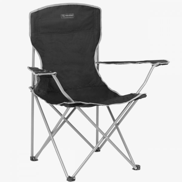 Highlander Outdoor Edinburgh Camp Chair, Black FUR002-BK