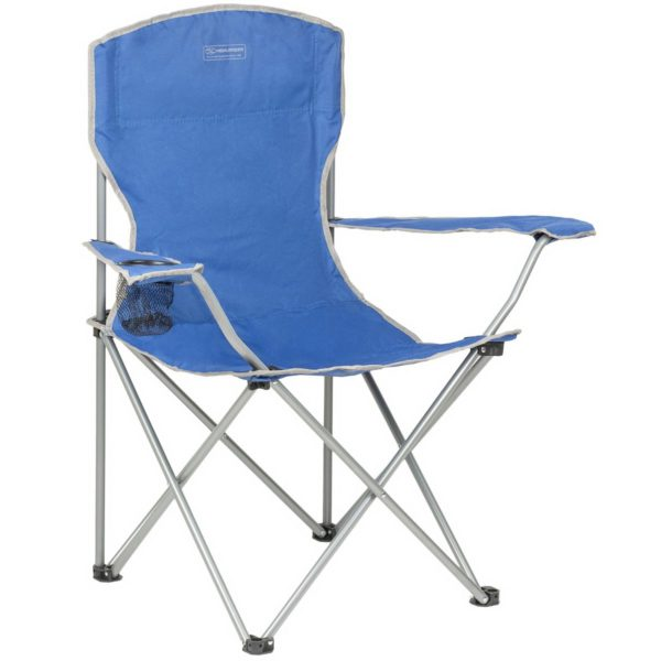 Highlander Outdoor Edinburgh Camp Chair, Blue fur002-bl-left