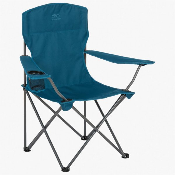 Highlander Outdoor Edinburgh Camp Chair, Marine Blue FUR002-MRB-2