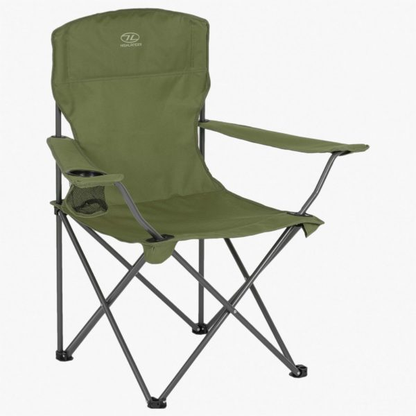 Highlander Outdoor Edinburgh Camp Chair, Olive FUR002-OG-2