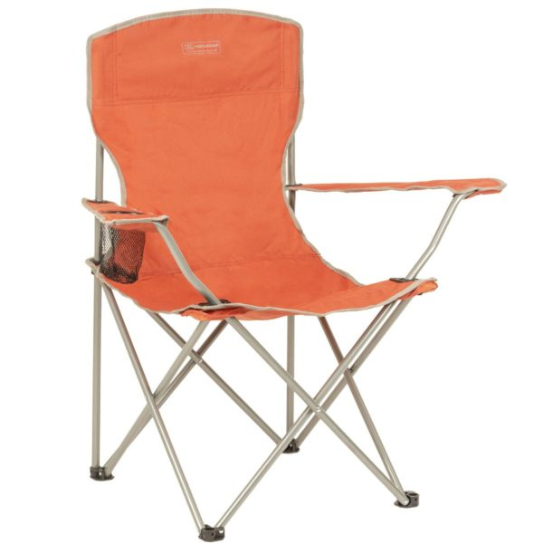 Highlander Outdoor Edinburgh Camp Chair, Orange fur002-or-right