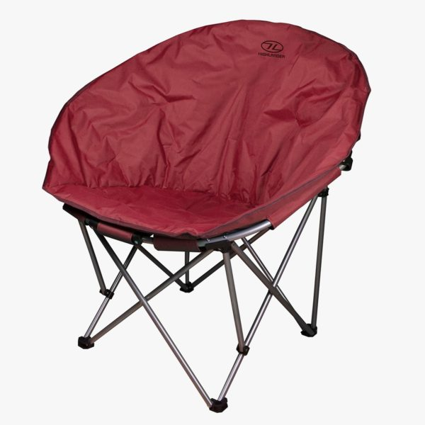 Highlander Outdoor Moon Chair Red FUR085-BR