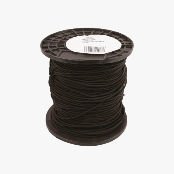 Highlander Shock Cord, Black, 2.5mm x 200m CS100