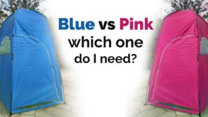 blue vs pink camping toilet