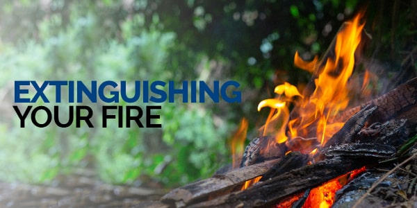 Extinguishing your fire