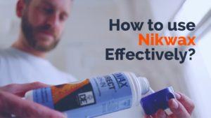 how to use nikwax