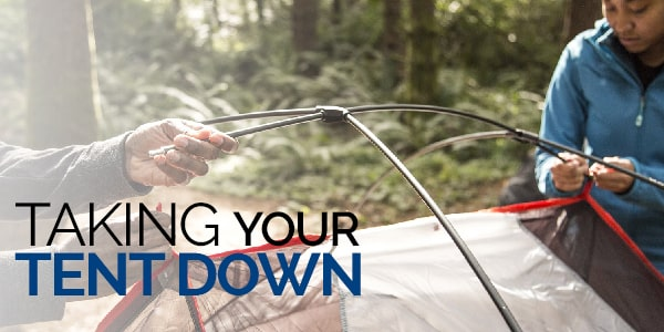 taking your tent down