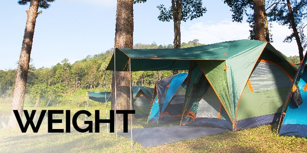 weight of a tent