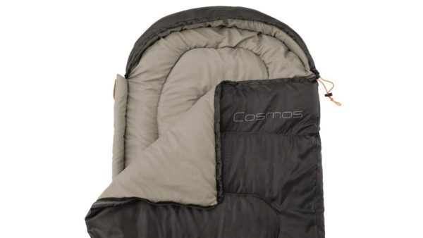 Easy Camp Cosmos Sleeping Bag Black sip opne