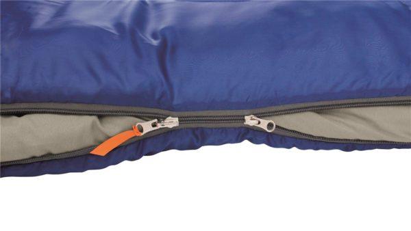 Easy Camp Cosmos Sleeping Bag Blue zips