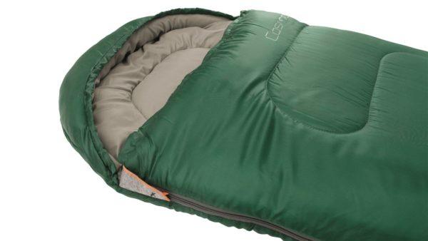 Easy Camp Cosmos Sleeping Bag Green close up
