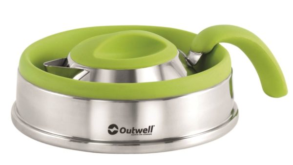 Outwell Collaps Kettle 1.5 Litre Lime Green collpased