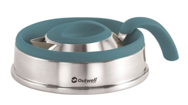 Outwell Collaps Kettle 1.5Litre Deep Blue Collapsed