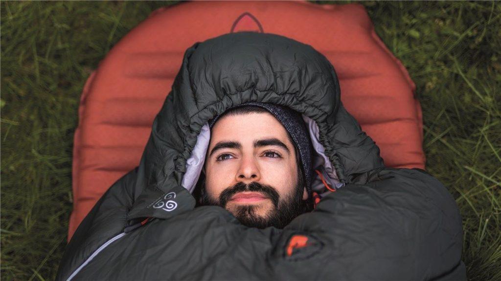 man in a robens sleeping bag