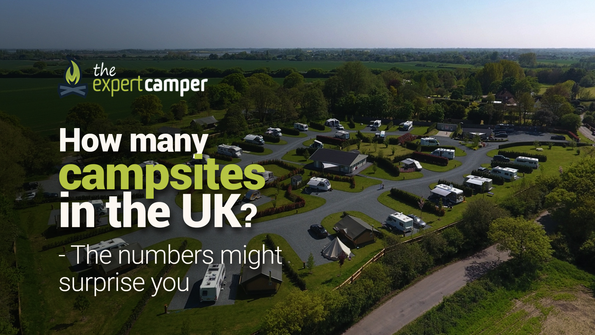 How many campsites are in the UK?