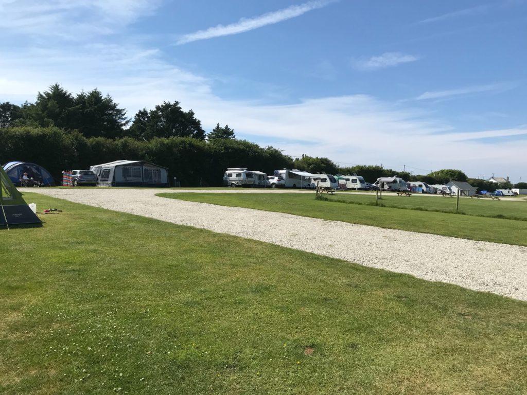 Rosebud Farm Touring Park caravan field