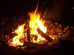 South Penquite Farm campfire