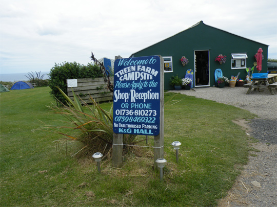 Treen Farm campsite entrance