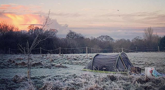 Wardley Hill Campsite, Norfolk winter