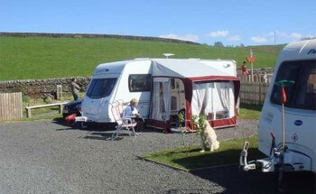 Herding Hill Farm Touring, Camping and Glamping Site in Haltwhistle hard standing