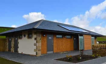 Herding Hill Farm Touring, Camping and Glamping Site in Haltwhistle shower block