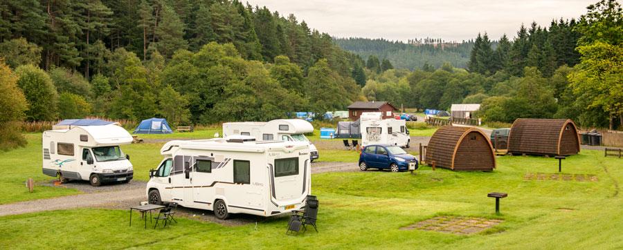 Kielder Village Camping and Caravan Site in Hexham caravan